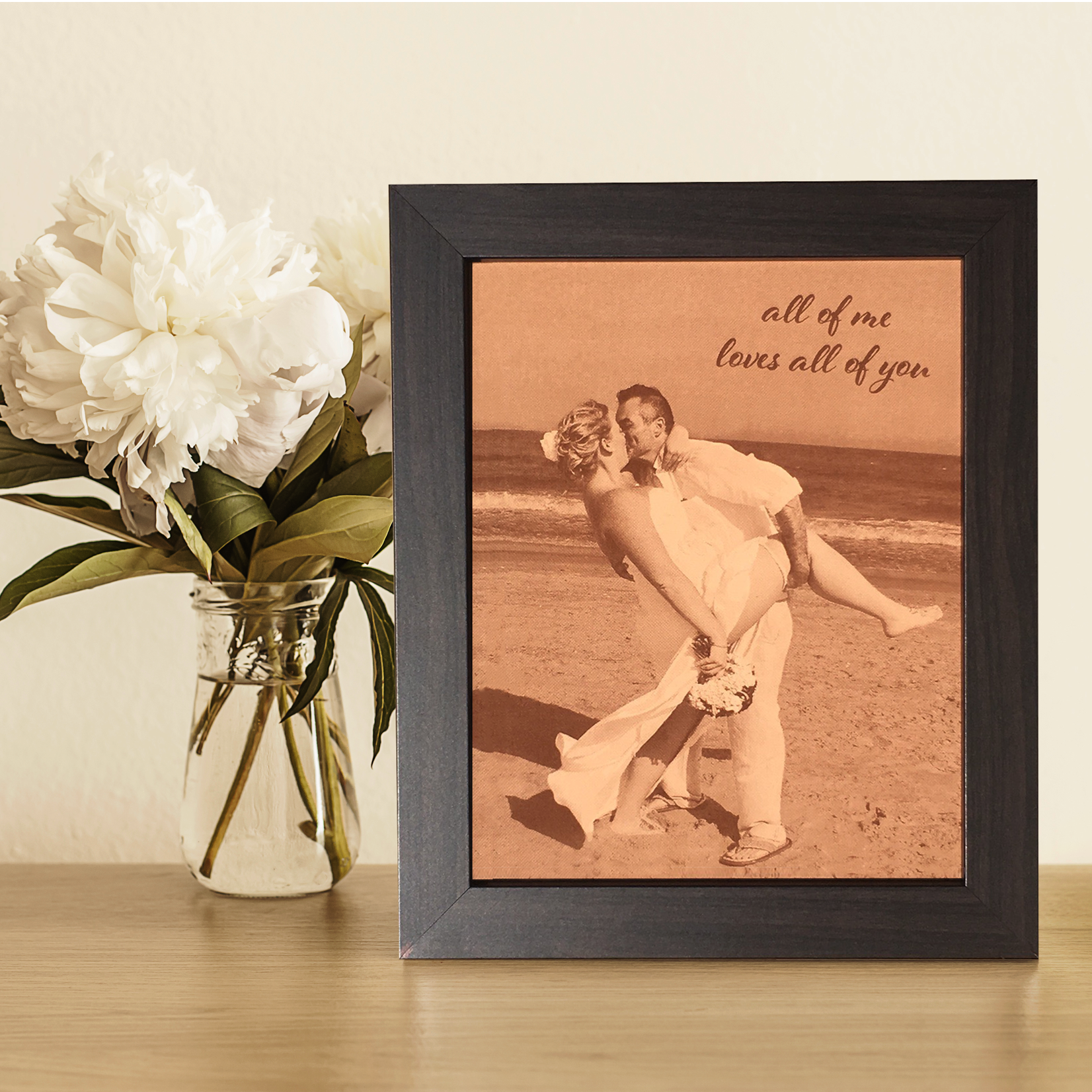 220c58a9419a Engraved Leather Photo - Anniversary Gift Idea