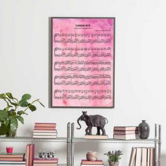 water color sheet music print