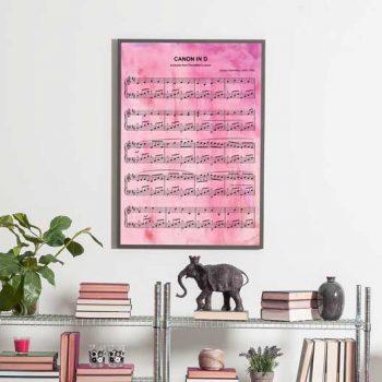 water color sheet music print