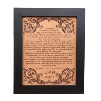 leather anniversary gift wedding vows