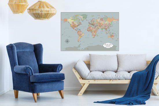World map home decor