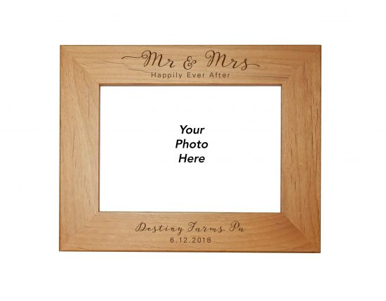 wedding picture frame personalized