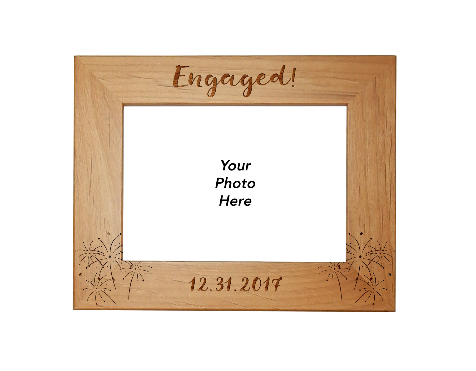 just got engaged picture frame