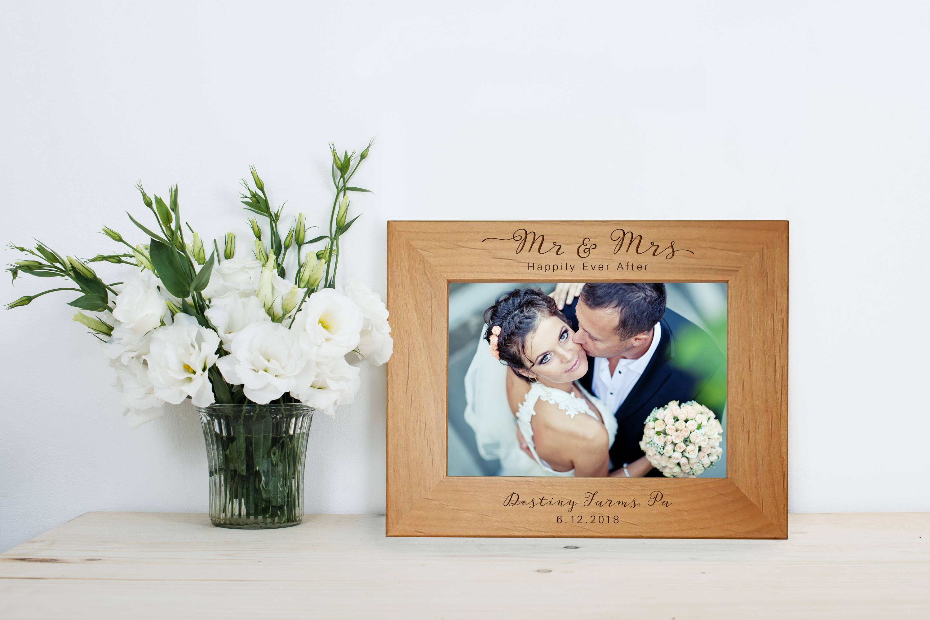 rustic wedding picture frame