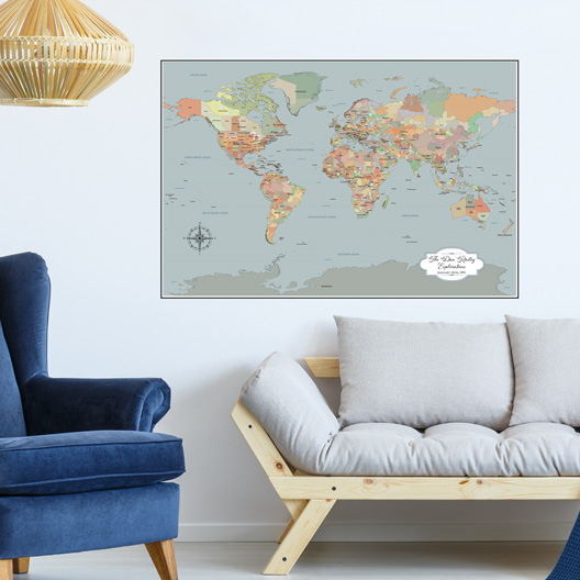 Push Pin Travel Maps by Jessica Wilkeson Design Studio -
