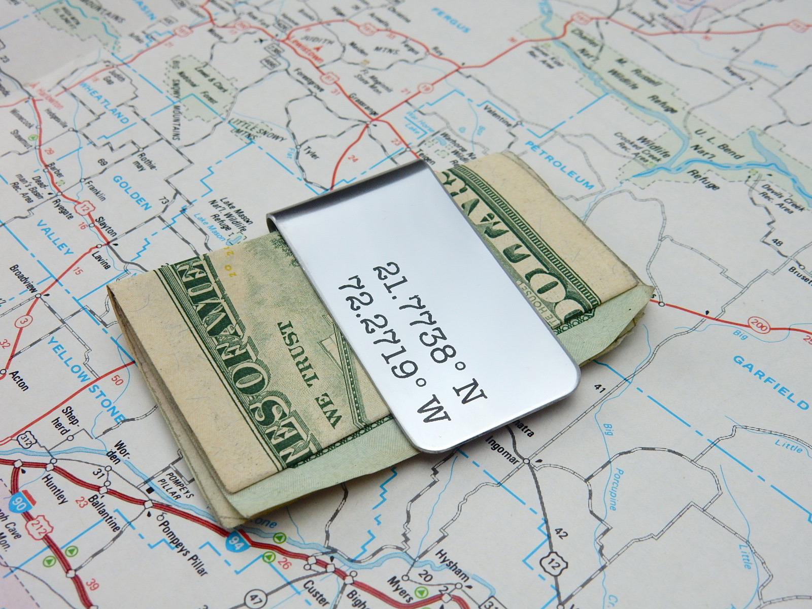 GPS money clip