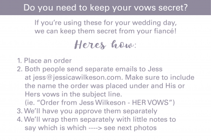 how to keep your vows secret