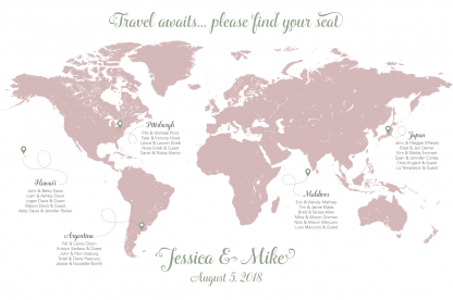 Wedding map seating chart, please find your seat map