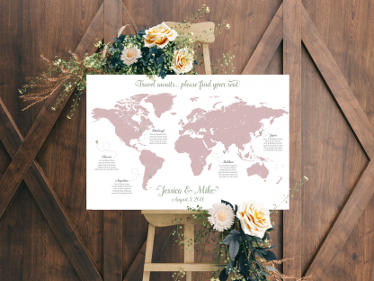 wedding map guest seating chart