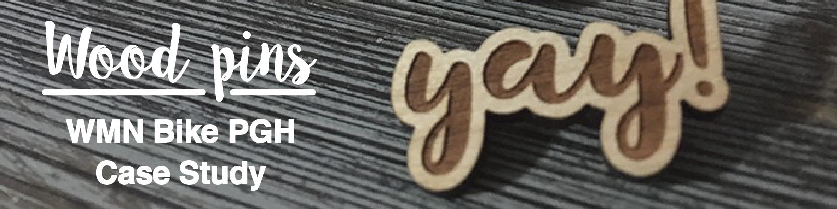 Custom wood pins