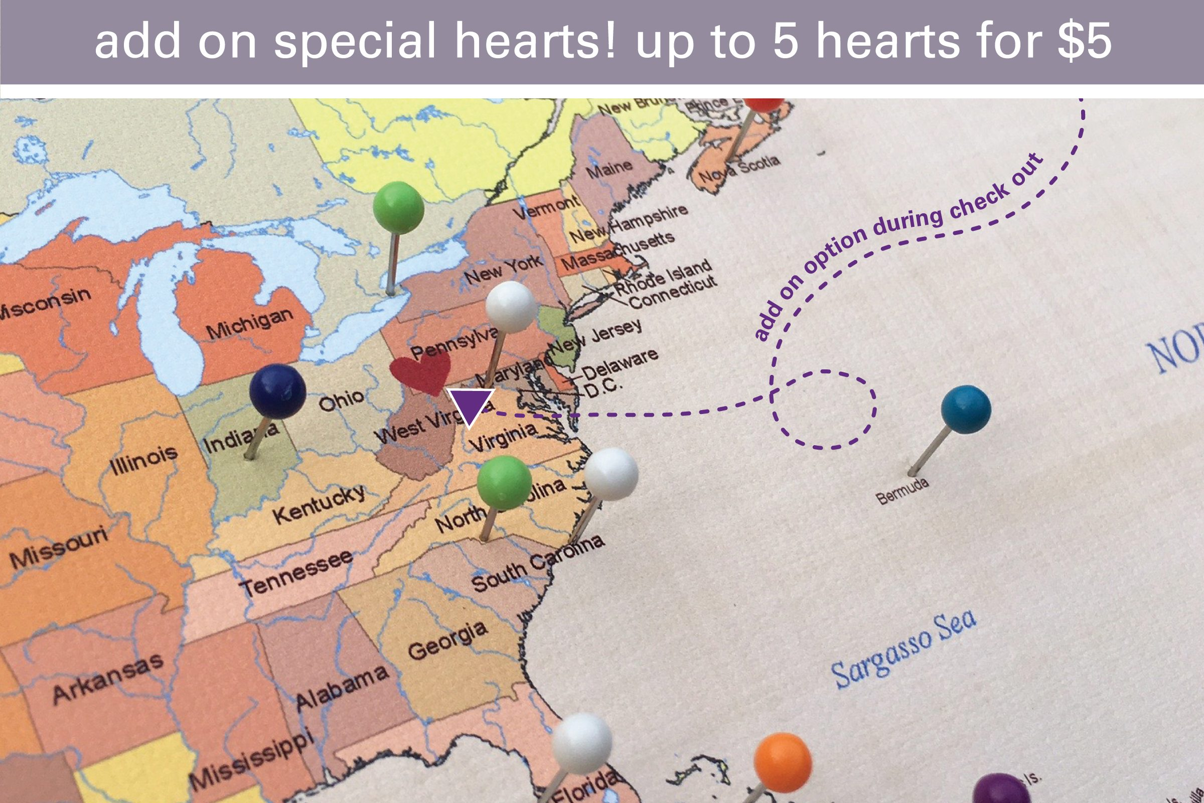 special hearts added to pin map