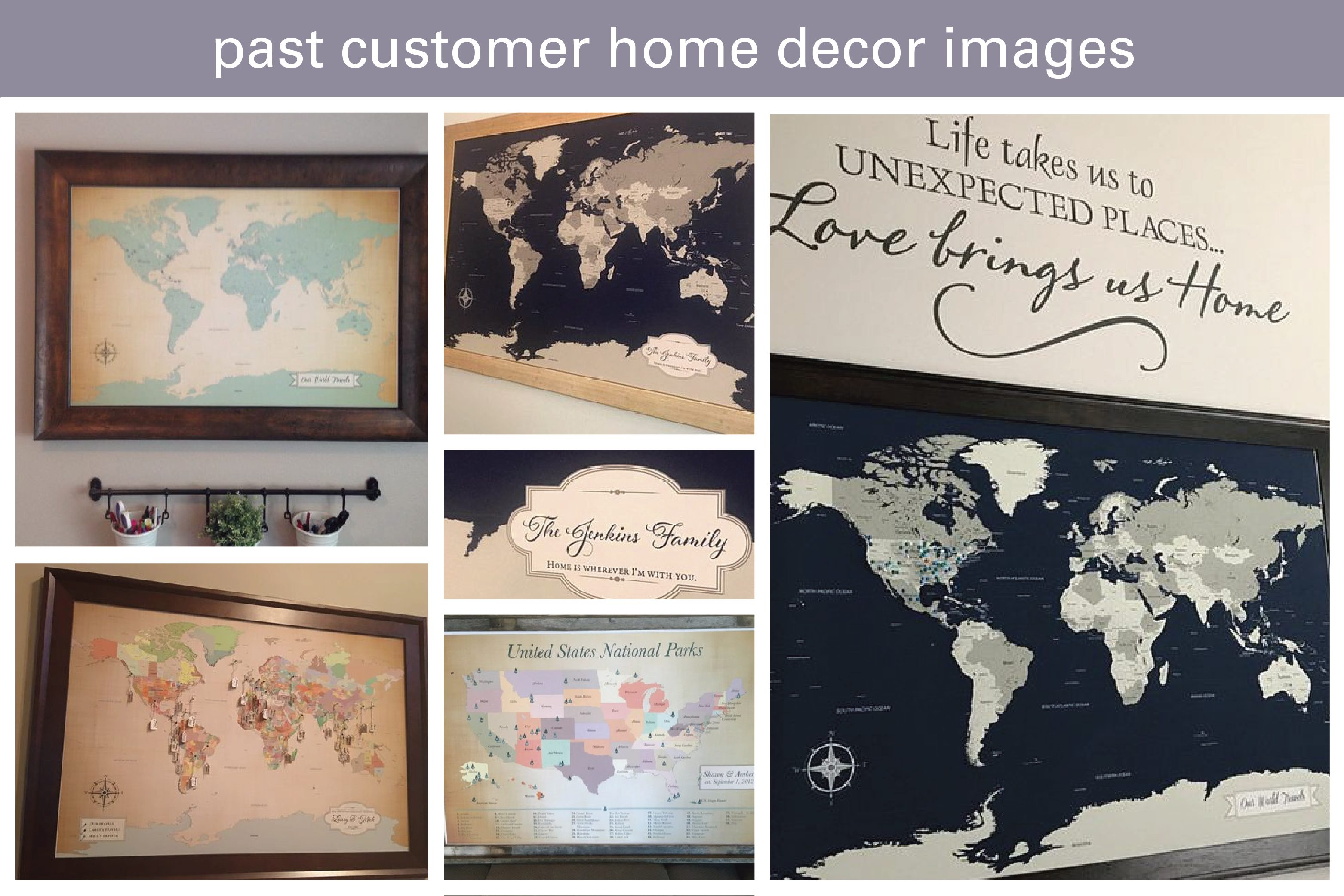 World map home decor inspiration