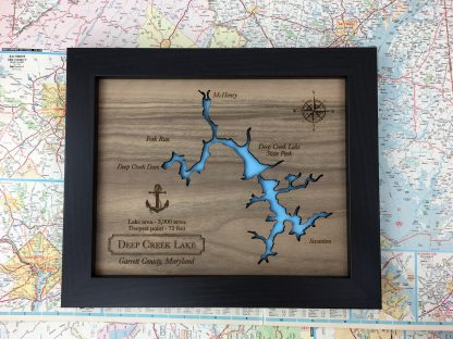 deep creek lake wood map