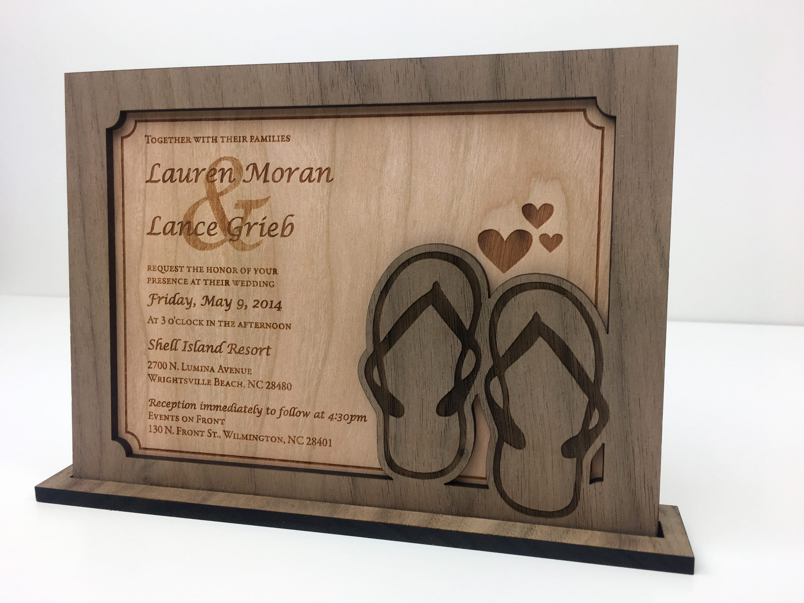 5th anniversary wood wedding invitation