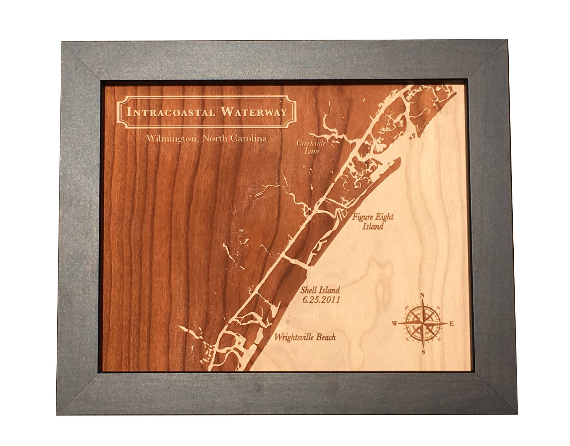 wood map, 5th anniversary gift idea