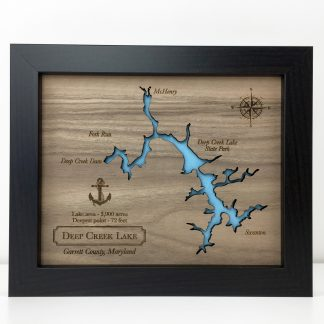 custom wood lake map