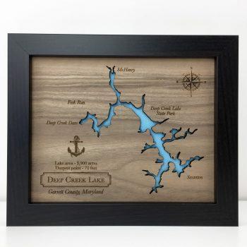 custom wood lake map