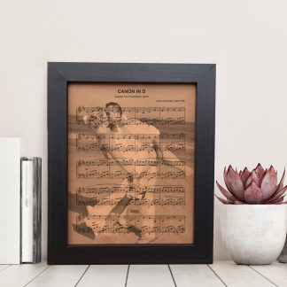 leather photo with sheet music