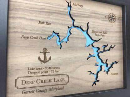 wood lake map, 5th anniversary gift idea