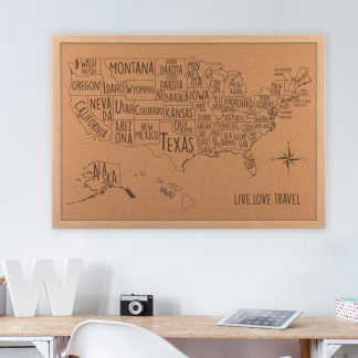 college dorm room decor usa map