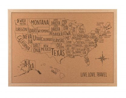 Cork map Dorm room decor USA Travel Map