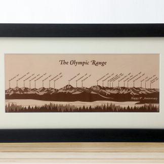 olympic mountain range illustration