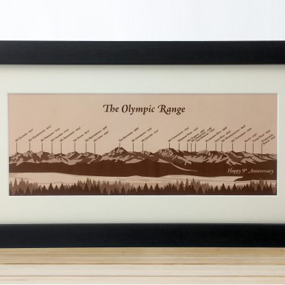 olympic mountain range illustration