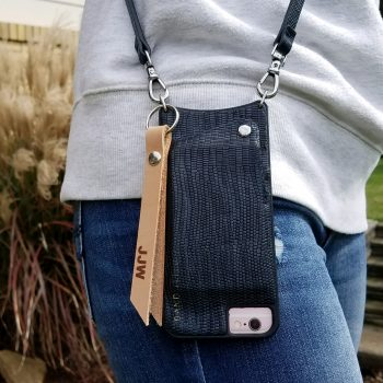 leather bag tag personalized