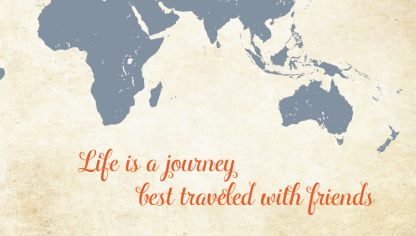 life is a journey world map