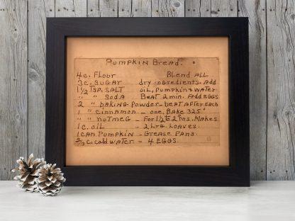personalized recipe art handwriting engraved