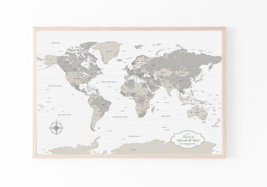 farm house decor world map