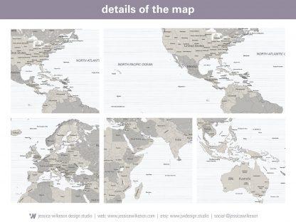 farm house decor push pin world map