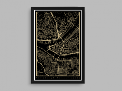 vegas gold and black city of pittsburgh map