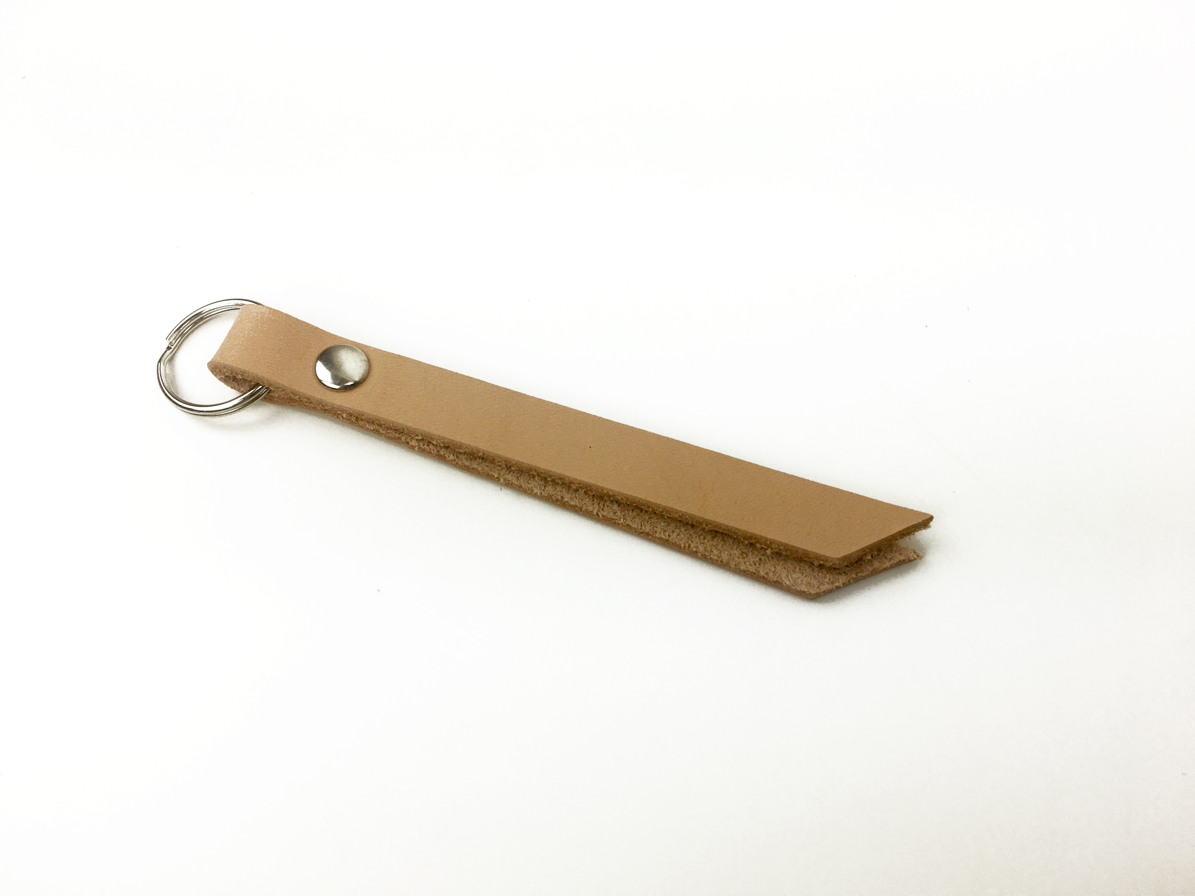 minimalist style leather key chain