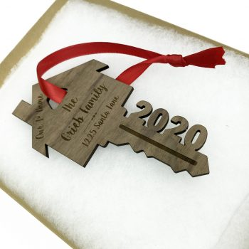 2020 personalized wood christmas tree ornament