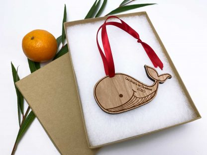 baby whale 1st xmas ornament