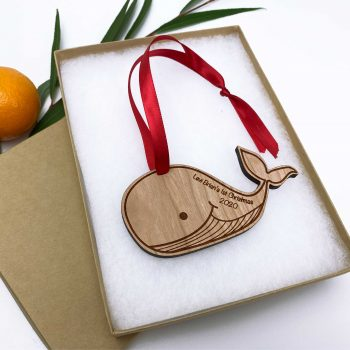 baby whale holiday ornament