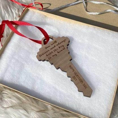 key to my heart holiday ornament