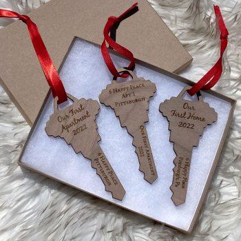 key holiday ornaments