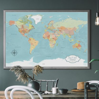 map home decor style