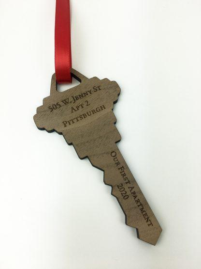 address key ornament personalized gift
