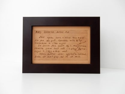 personalized handwriting art on leather