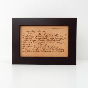 custom recipe art on leather