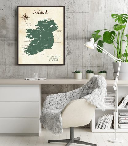 ireland keepsake map