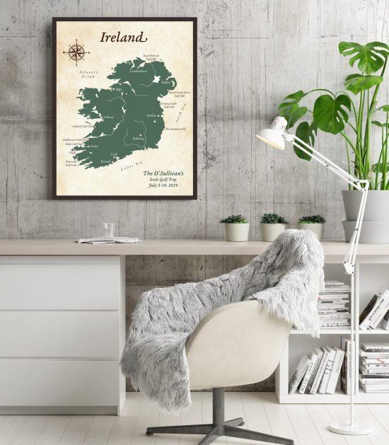 ireland keepsake map