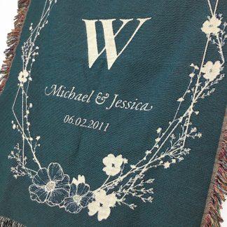 monogram blanket personalized
