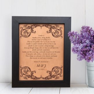 3rd anniversary leather vows