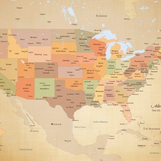 Adventure Awaits USA Map