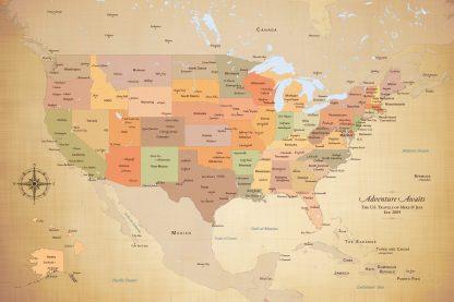 Adventure Awaits USA Map