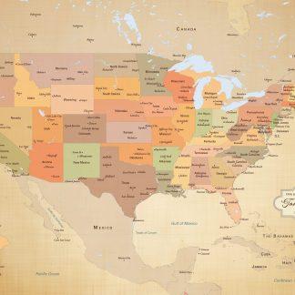 personalized USA pin map